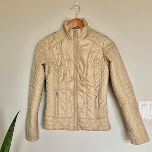 The North Face quilted insulated motorcycle jacket